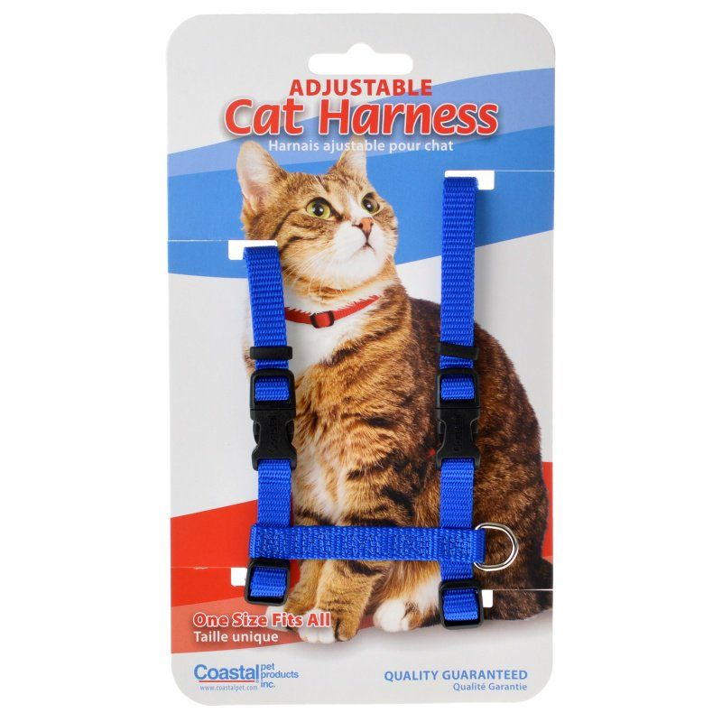 Tuff Collar Nylon Adjustable Cat Harness - Blue