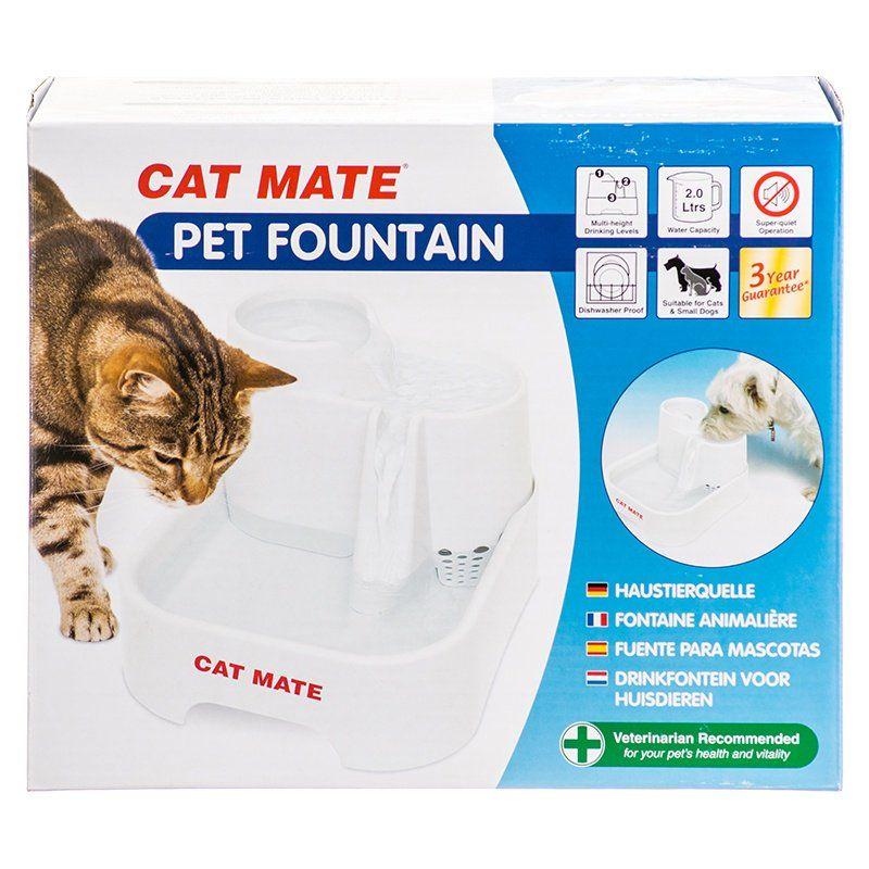 Cat Mate Pet Fountain - White