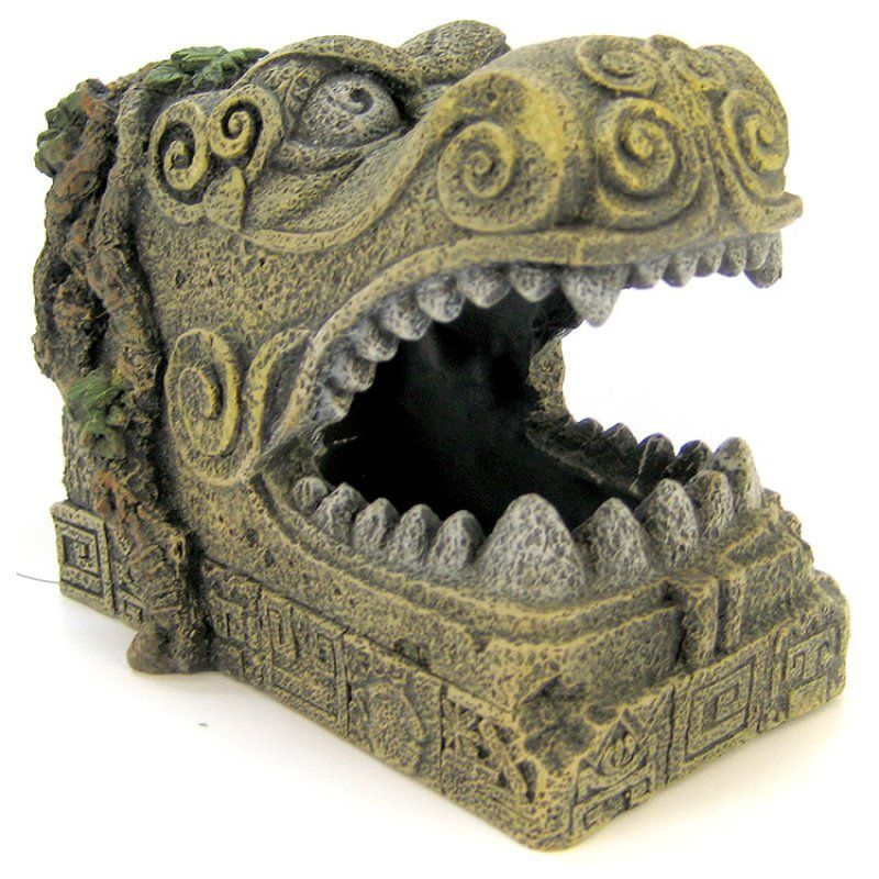 Blue Ribbon Serpent Head Tomb Ornament