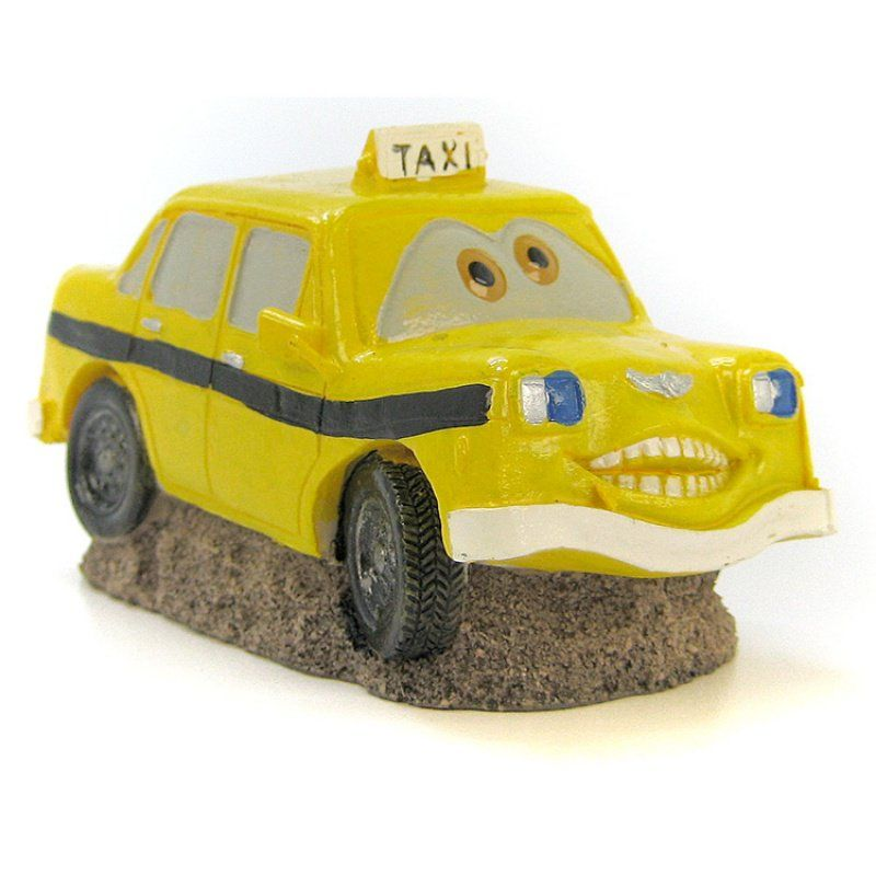 "Blue Ribbon ""Cars"" Smiley Taxi Ornament"