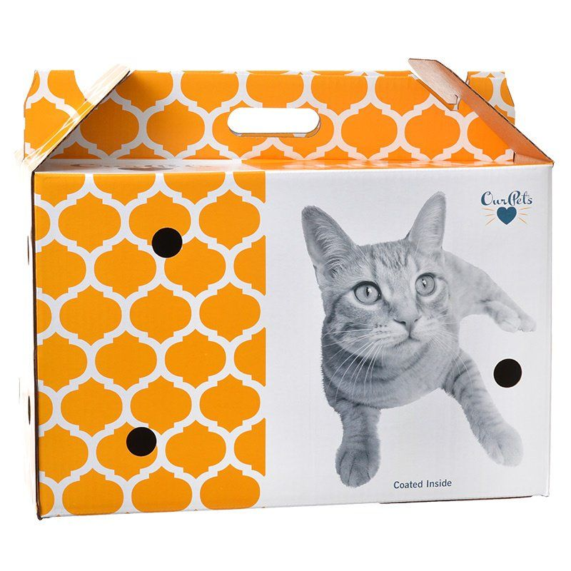 OurPets Cosmic Catnip Pet Shuttle Cardboard Carrier