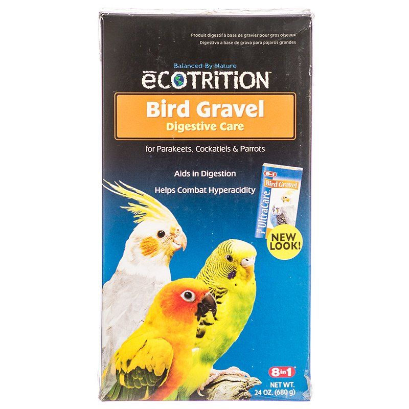 Ecotrition Bird Gravel for Parakeets, Cockatiels & Parrots 24oz