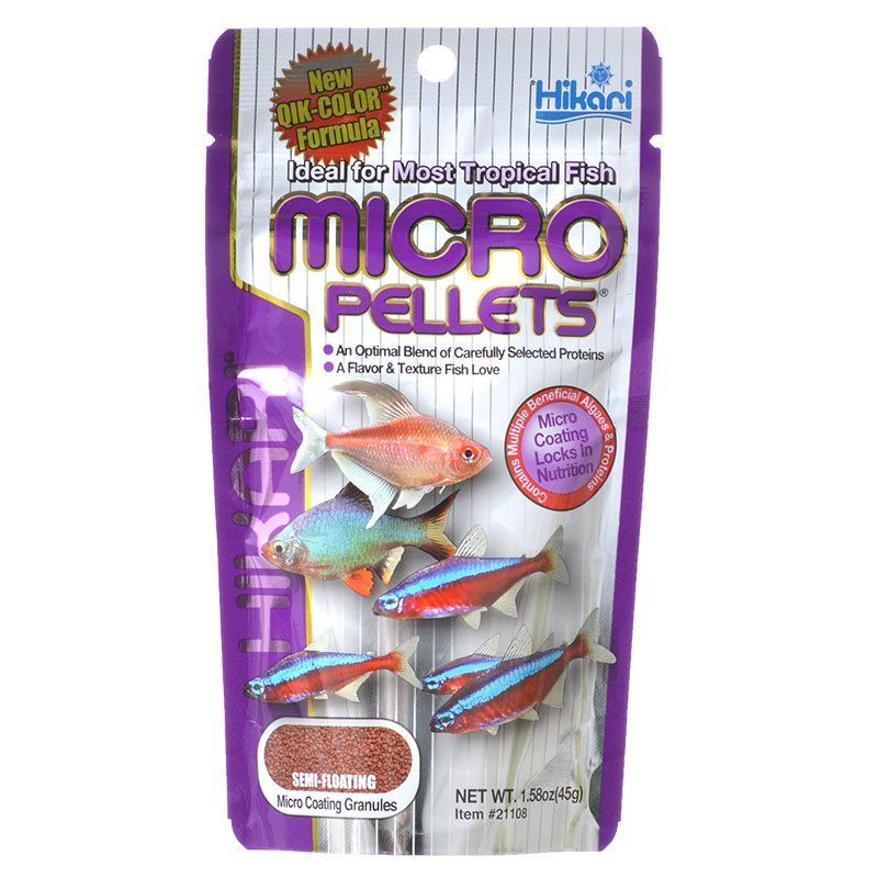Hikari Micro Pellets for Tetras, Barbs & Small Fish