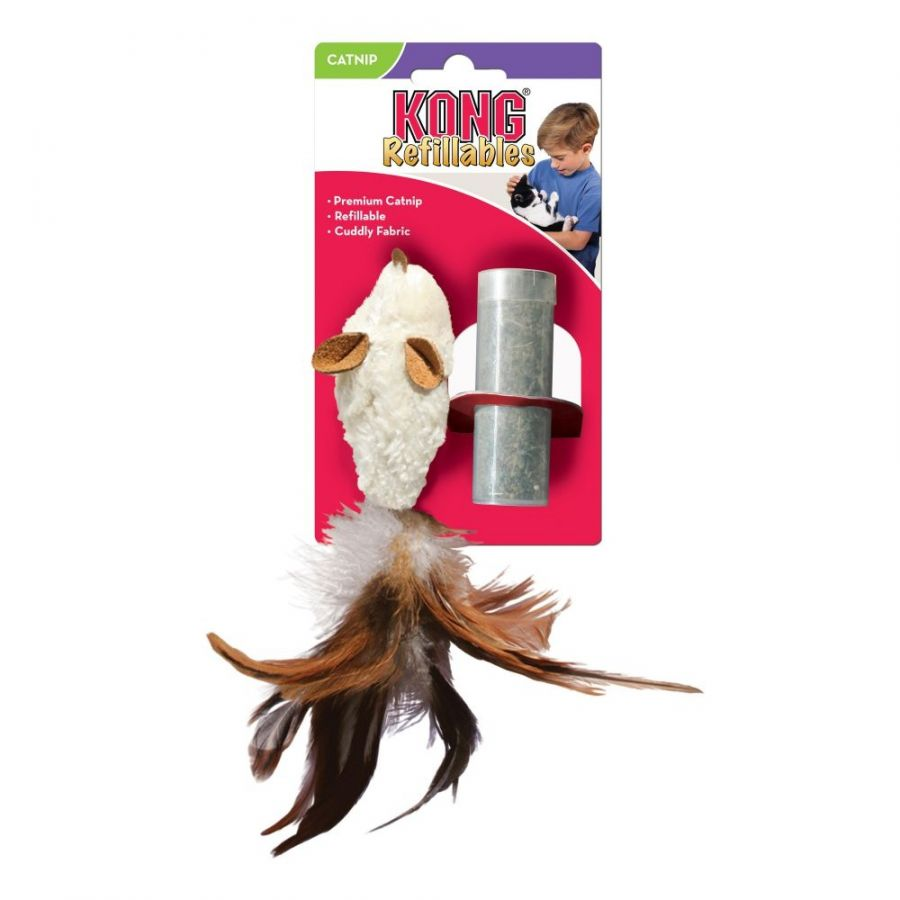 Kong Feather Mouse Cat Toy with Catnip