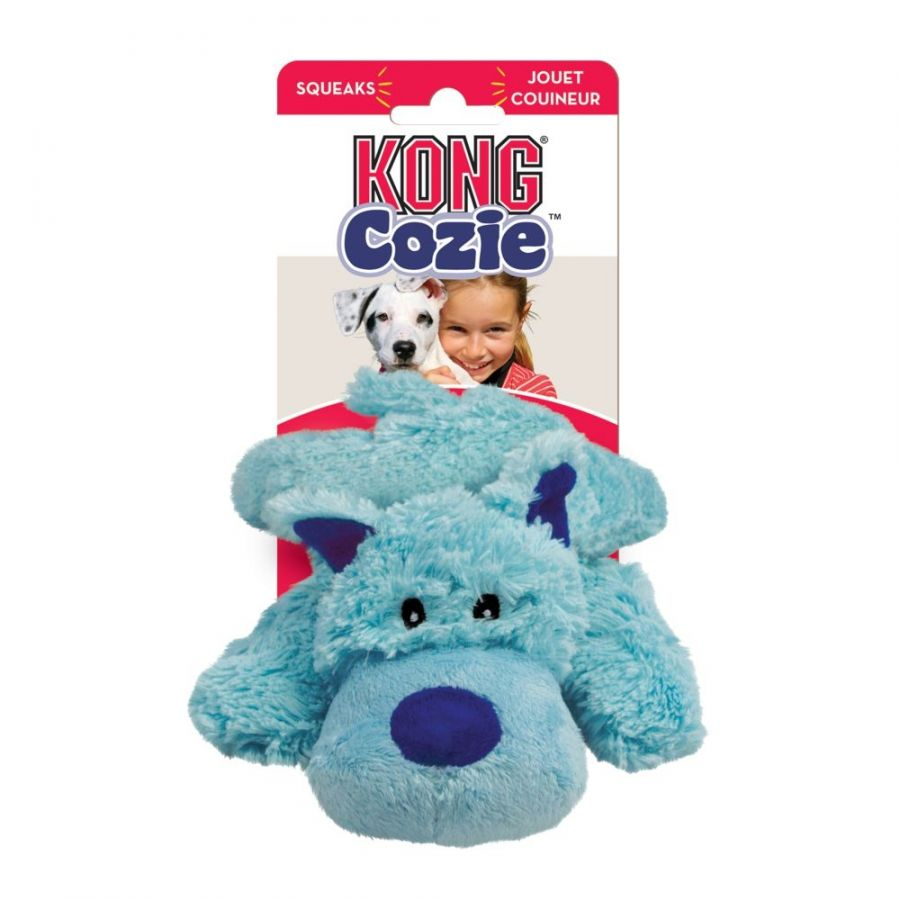 Kong Cozie Plush Toy - Baily the Blue Dog