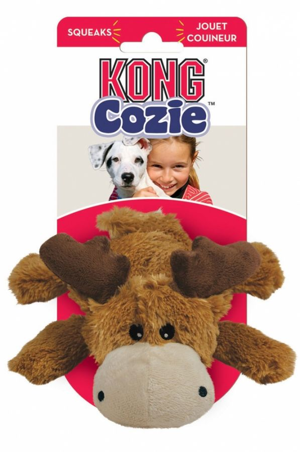 Kong Cozie Plush Toy - Small Moose Dog Toy