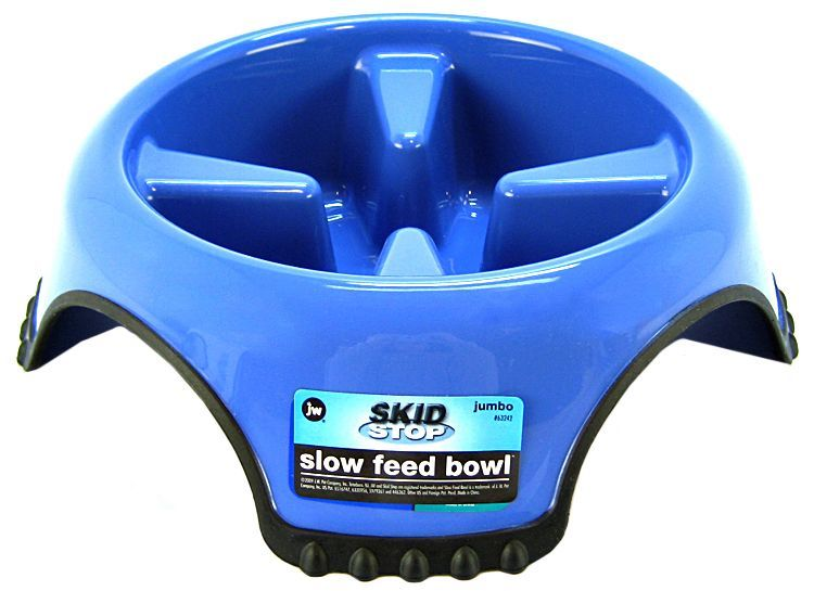 JW Pet Skid Stop Slow Feed Bowl