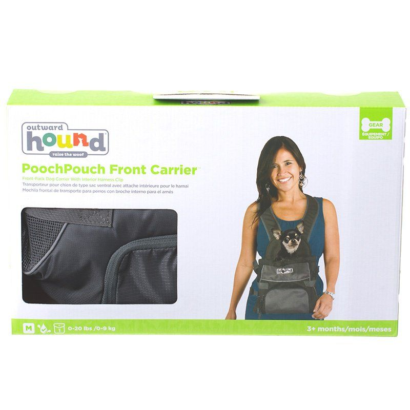 Outward Hound Pet-A-Roo Front Style Pet Carrier - Black