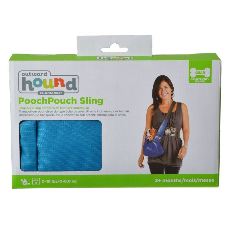 Outward Hound Sling-Go Pet Sling Carrier - Blue