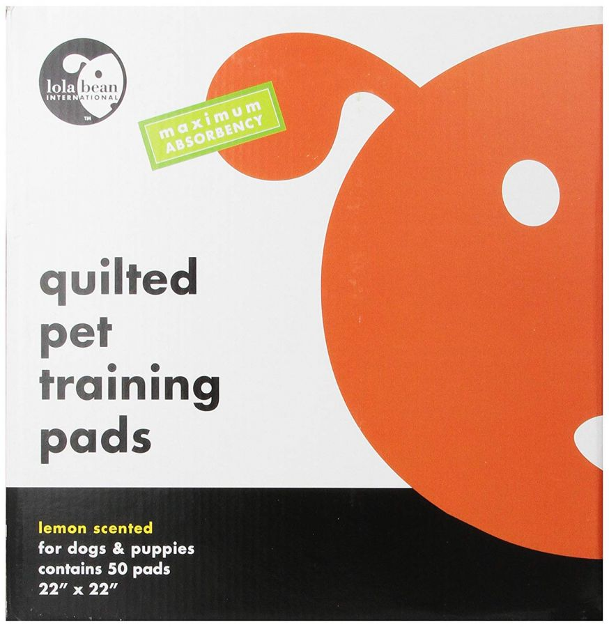 Lola Bean Quilted Pet Training Pads - Lemon Scent