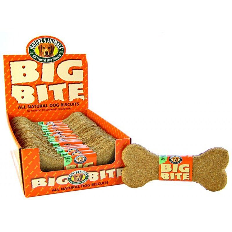 Natures Animals Big Bite Dog Treat - Lamb & Rice Flavor