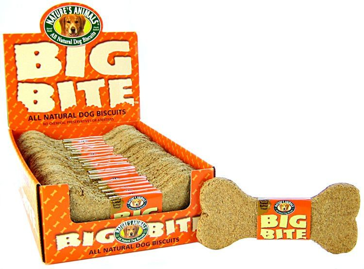 Natures Animals Big Bite Dog Treat - Peanut Butter Flavor