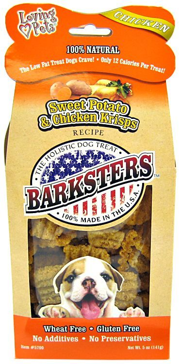 Loving Pets Barksters Sweet Potato & Chicken Krisps