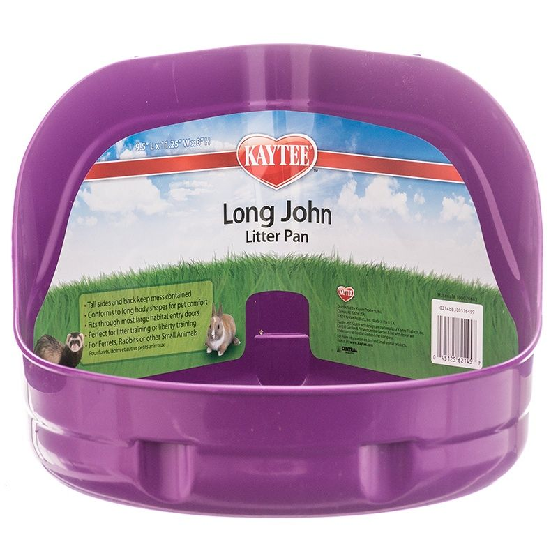 Kaytee Long John Litter Pan - High Sided