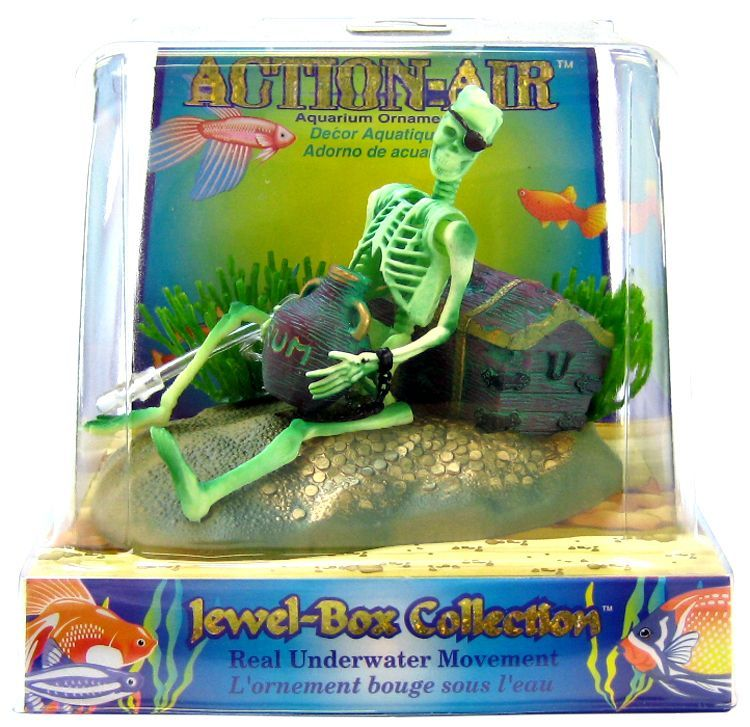 Penn Plax Action Air Jewel Box with Skeleton