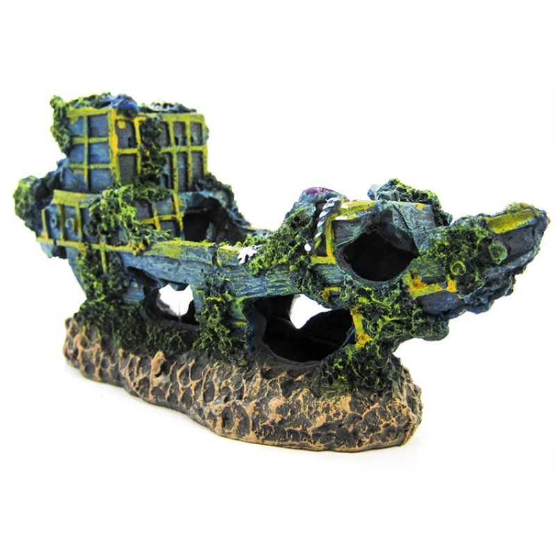 Penn Plax Sunken Ship Aquarium Decor