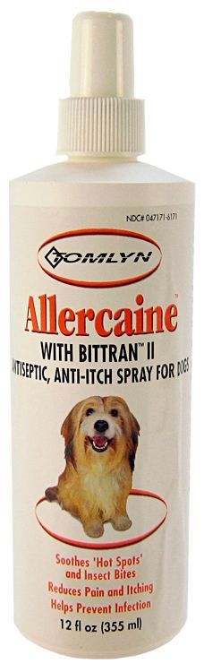 Tomlyn Allercaine with Bittran II Antiseptic Spray