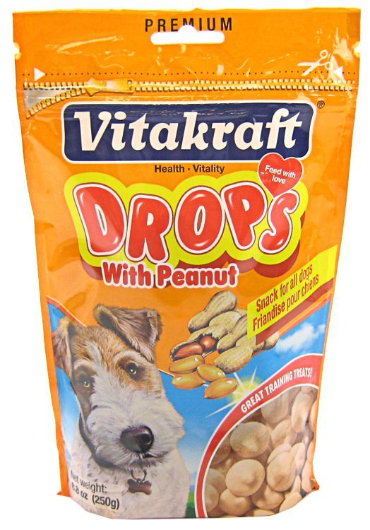 VitaKraft Drops with Peanut Dog Treats