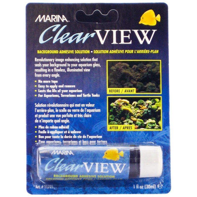 Marina Clear View Background Adhesive Solution