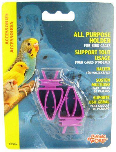 Living World All Purpose Holder for Bird Cages - Plastic