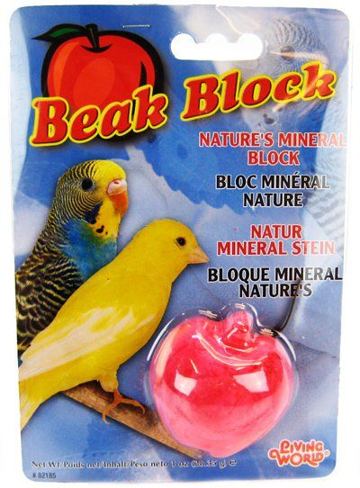 Living World Beak Block - Nature's Minerals - Apple