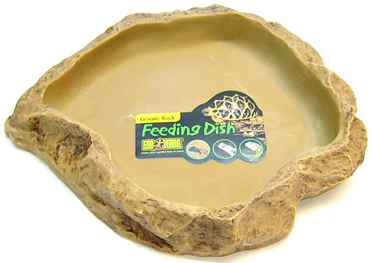 Exo-Terra Granite Rock Reptile Feeding Dish