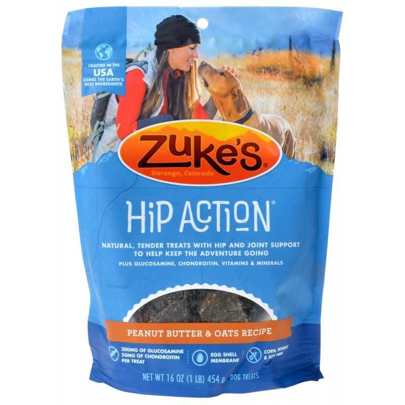 Zukes Hip Action Dog Treats - Peanut Butter & Oats Recipe