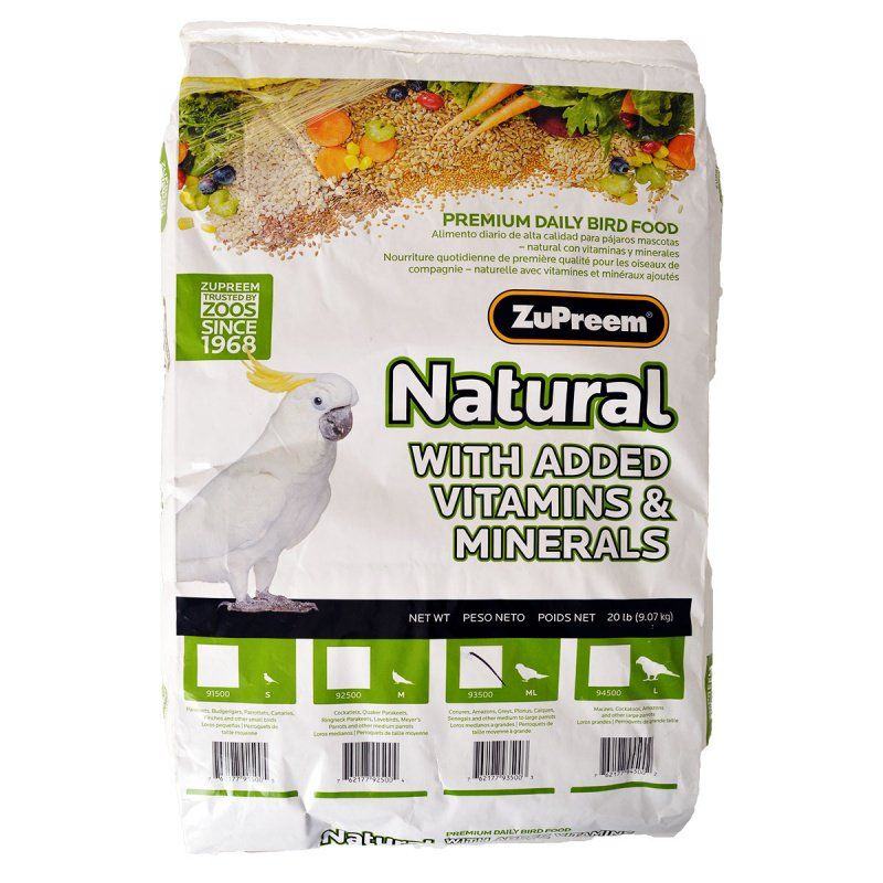 ZuPreem Natural Blend Bird Food - Parrot & Conure