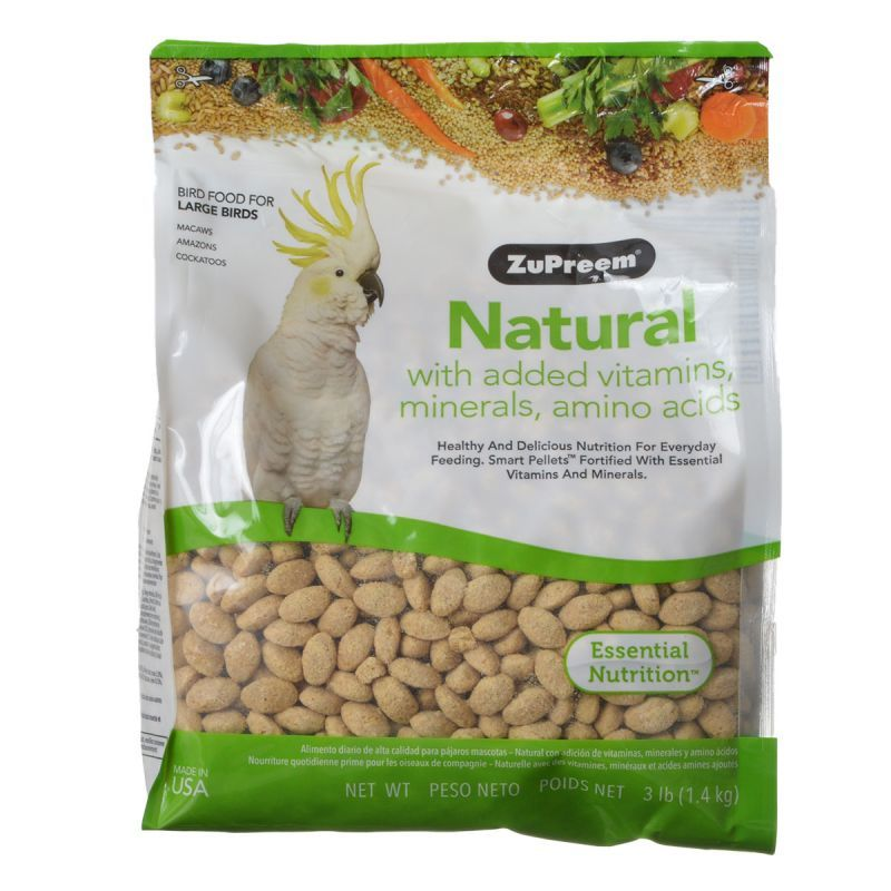 ZuPreem Natural Blend Bird Food - Large Parrot