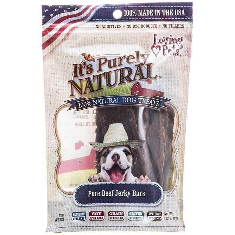 Loving Pets It's Purely Natural - Pure Beef Jerky Bars