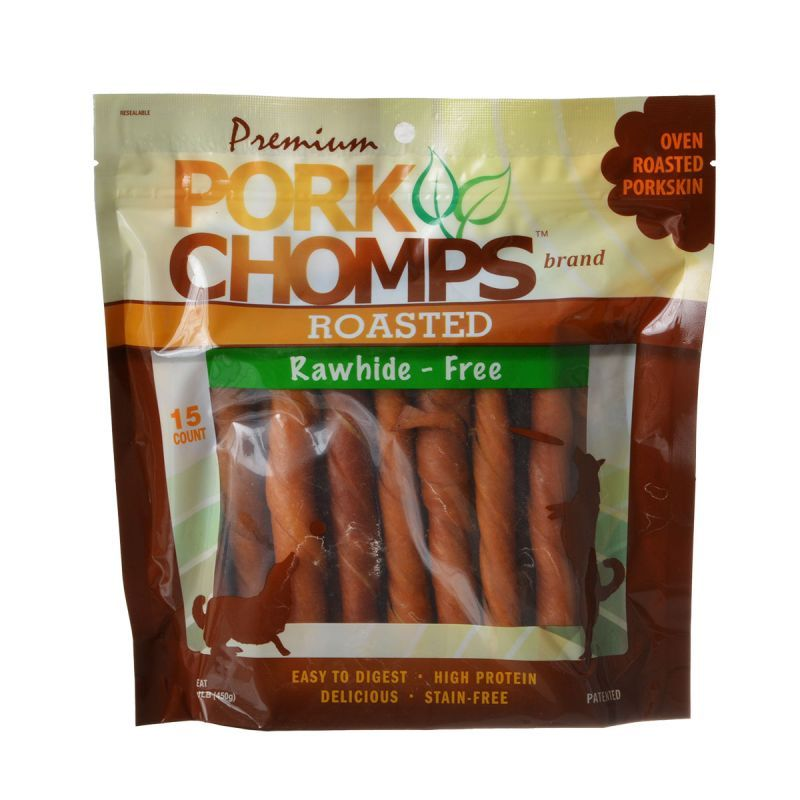Pork Chomps Twistz Pork Chews - Roasted