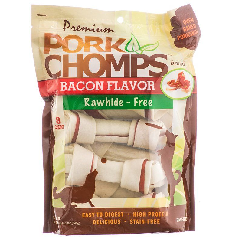 Pork Chomps Premium Pork Knotz - Bacon Flavor