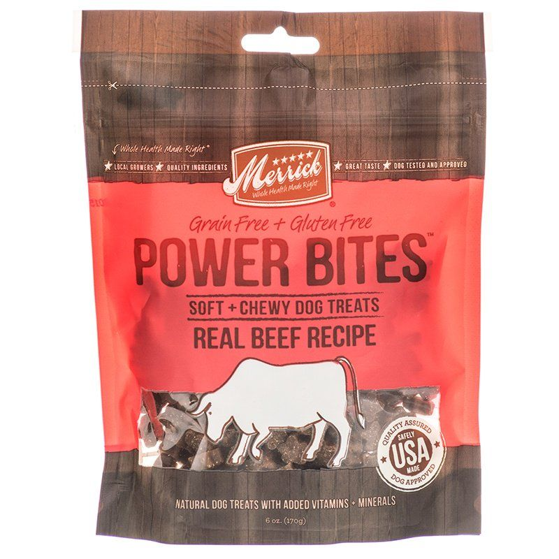 Merrick Power Bites Soft & Chewy Dog Treats - Real Texas Beef Recipe