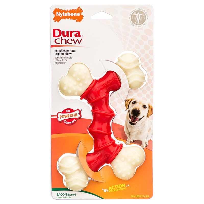 Nylabone Dura Chew Double Bone - Bacon Flavor