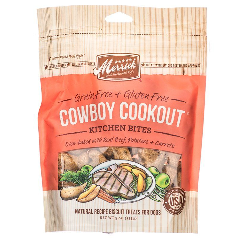 Merrick Kitchen Bites Dog Treats - Cowboy Cookout