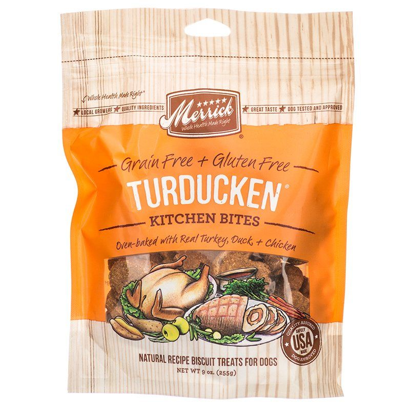 Merrick Kitchen Bites Dog Treats - Turducken