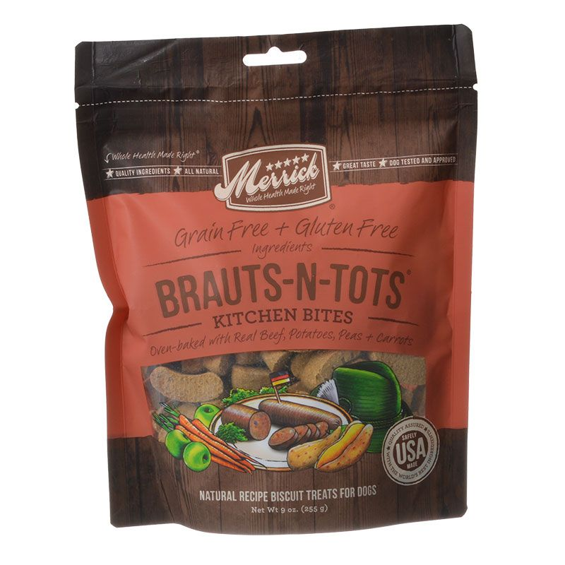 Merrick Kitchen Bites Dog Treats - Brauts-N-Tots