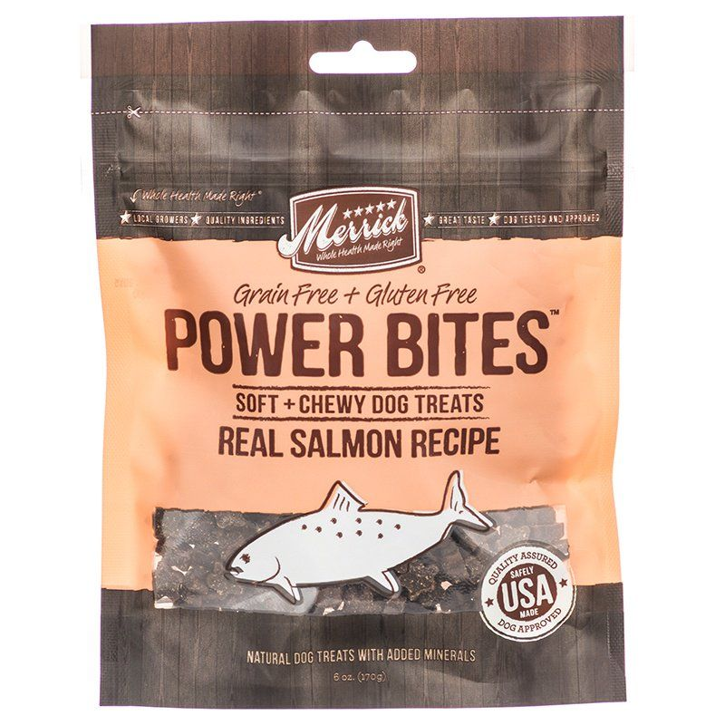 Merrick Power Bites Soft & Chewy Dog Treats - Real Salmon Recipe