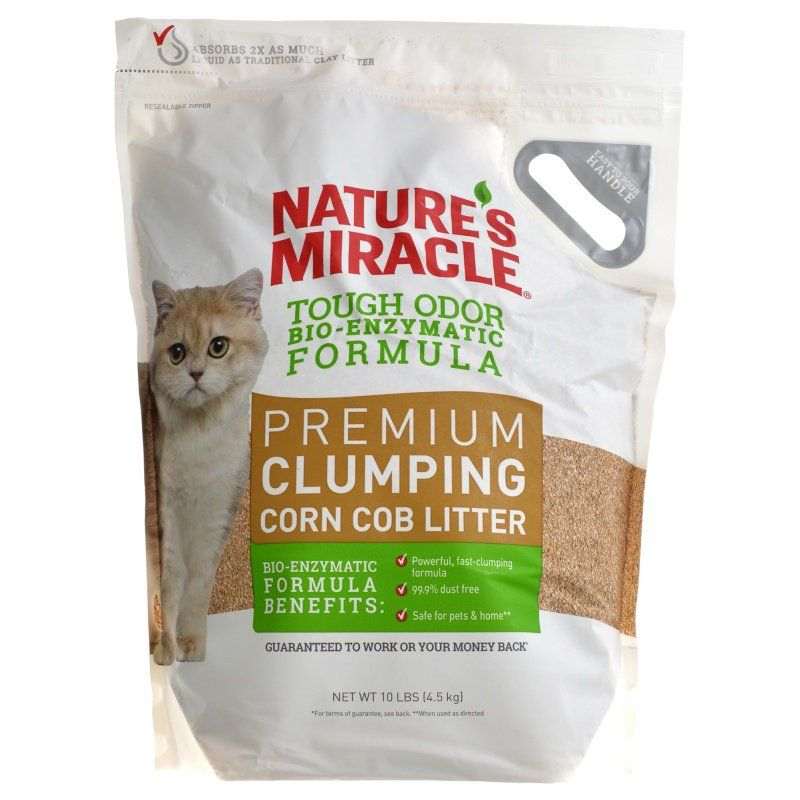 Nature's Miracle Tough Odor Bio-Enzymatic Formula Premium Clumping Corn Cob Litter