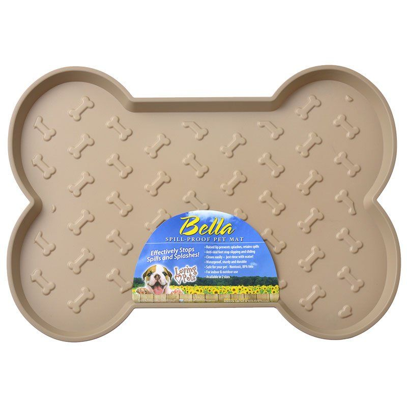 Loving Pets Bella Spill-Proof Dog Mat - Tan