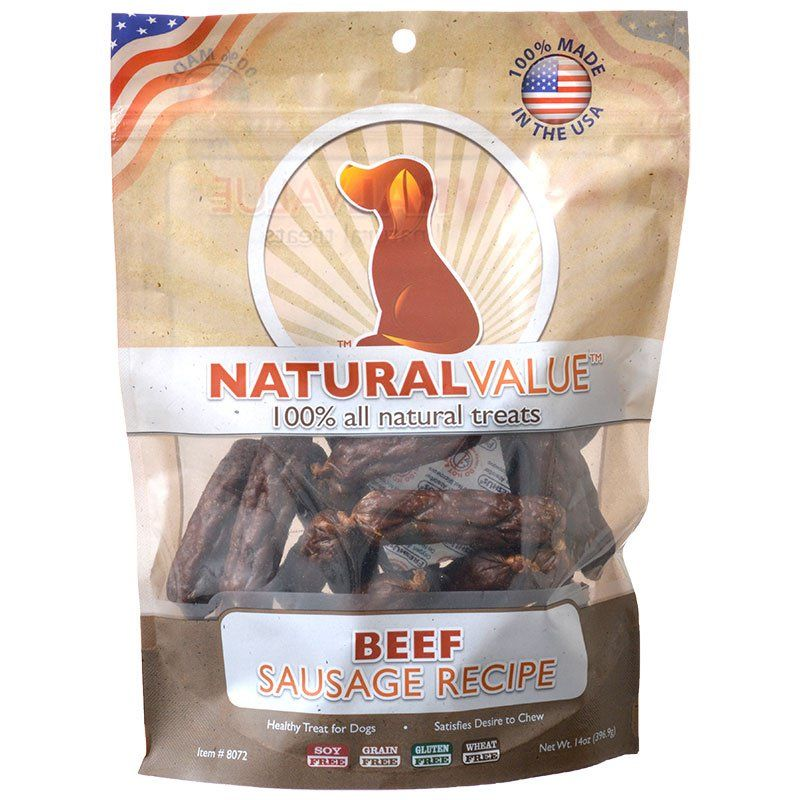 Loving Pets Natural Value Beef Sausages