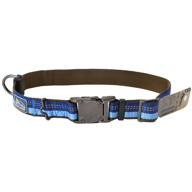 K9 Explorer Sapphire Reflective Adjustable Dog Collar