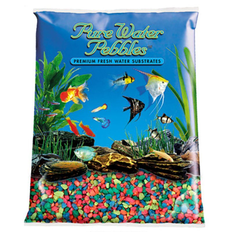 Pure Water Pebbles Aquarium Gravel - Neon Rainbow