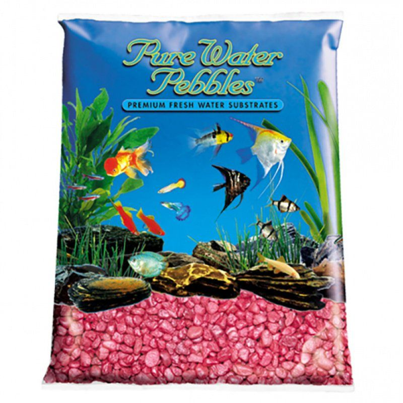 Pure Water Pebbles Aquarium Gravel - Red Frost