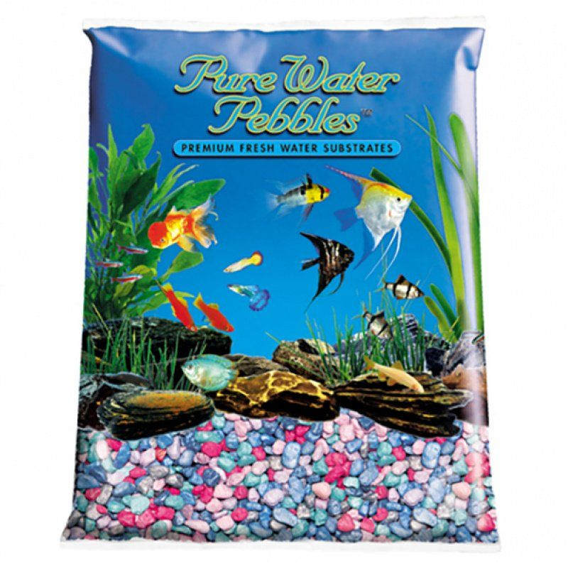 Pure Water Pebbles Aquarium Gravel - Rainbow Frost