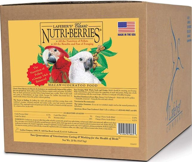 Lafeber Classic Nutri-Berries Macaw & Cockatoo Food