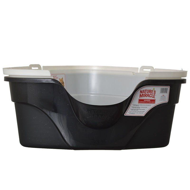 Nature's Miracle Advanced Corner Hooded Litter Box