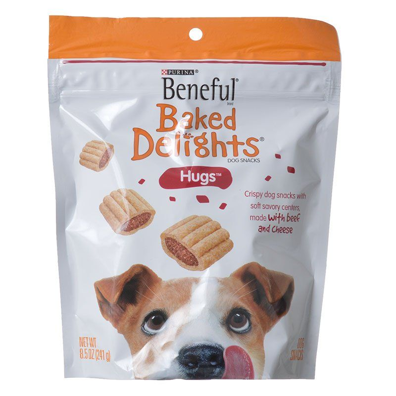Purina Beneful Baked Delights Hugs - Beef & Cheese