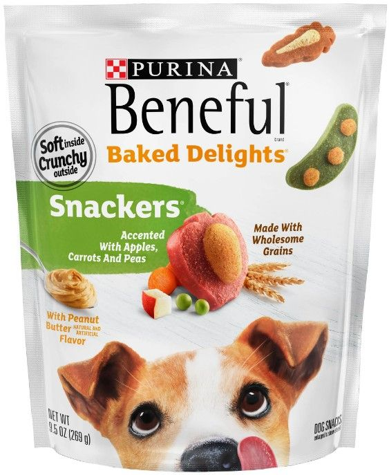 Purina Beneful Baked Delights Snackers with Apples, Carrots, Peas & Peanut Butter Dog Treats