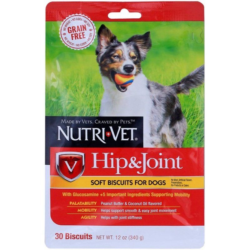Nutri-Vet Hip & Joint Grain Free Soft Biscuits for Dogs
